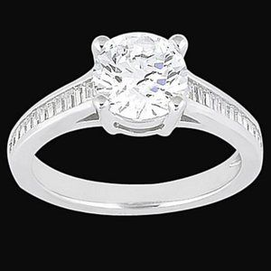 2.31 carat wedding ring Channel setting baguette d